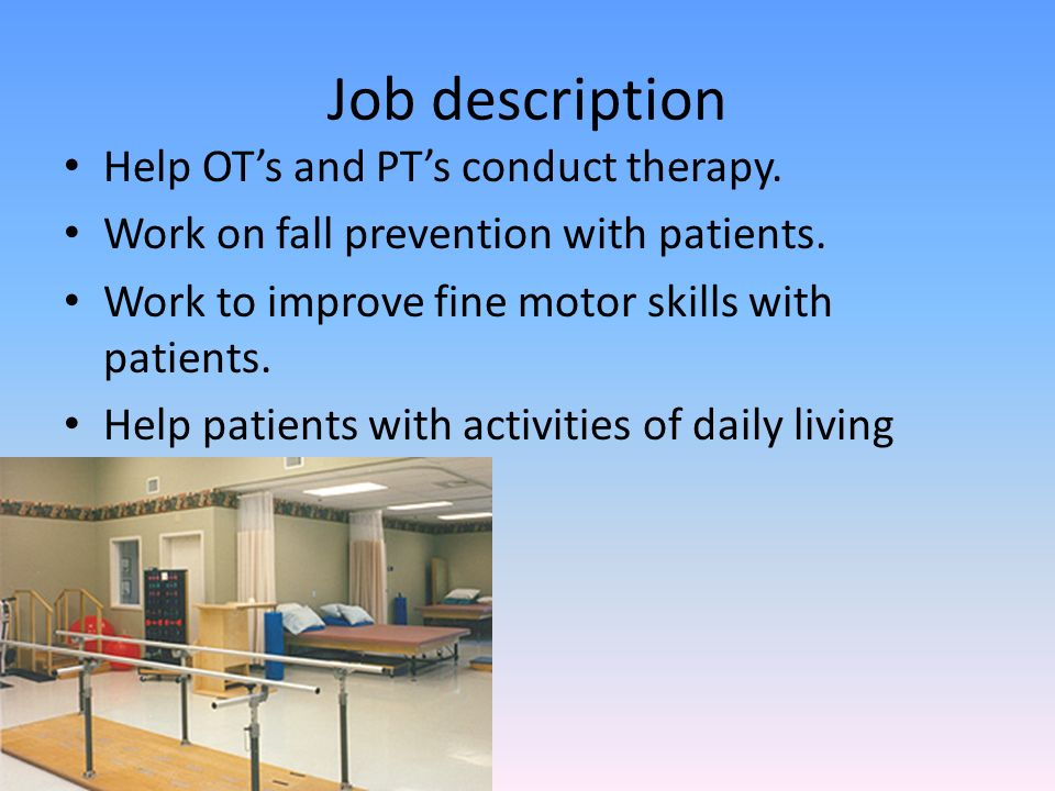 Occupational Therapy Internship  Ppt Download