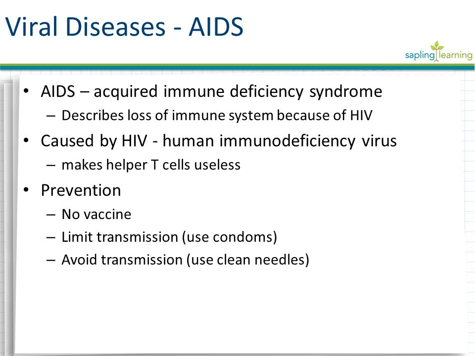 the causes and effects of the acquired immune deficiency syndrome Aids and hiv figure 1 at the pasteur institute in france and the national cancer institute in the usa isolated hiv as the cause of the like hiv in humans, these animal viruses primarily infect immune system cells, often causing immune deficiency and aids -like.