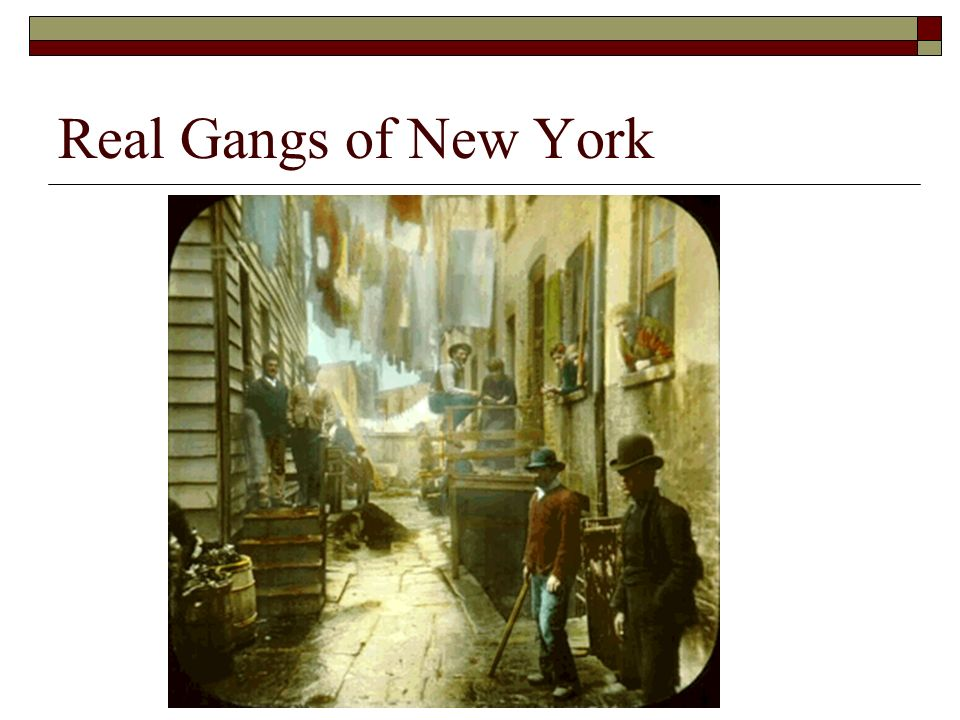 analysis gangs new york Gangs of new york arrives soaked in the sweat and tears of one of cinema's greatest living artists martin scorsese has nurtured this brutal, astonishing creation.
