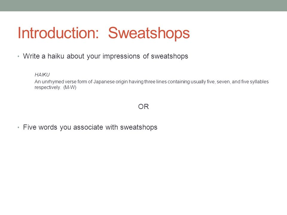 ethics and sweatshops 'it is an impossible task to track down all of these terrible sweatshops,.