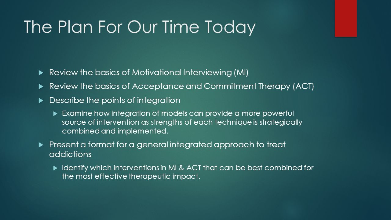 combining motivational interviewing and acceptance and