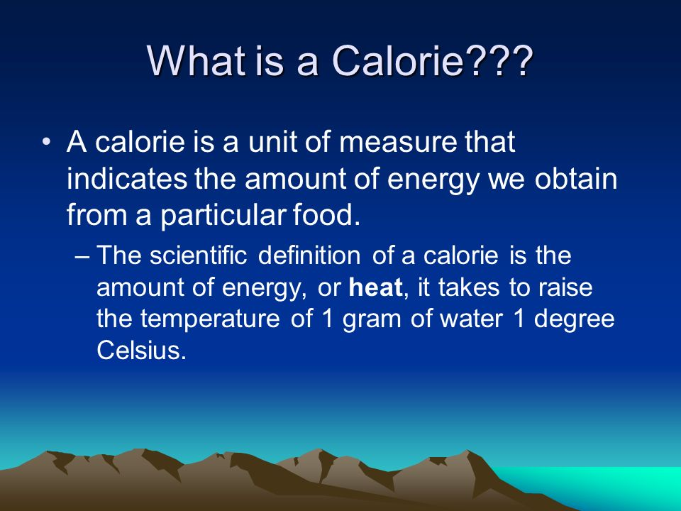 calories. - ppt video online download, Human Body