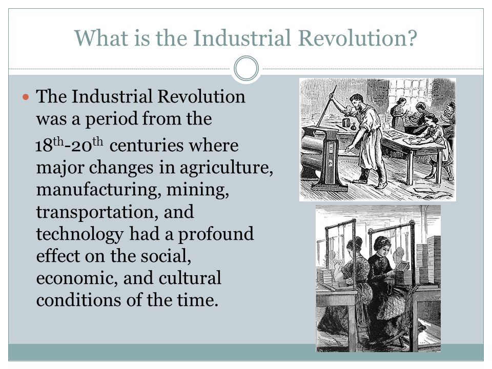 the most important changes the the industrial revolution brought Free essay: most important changes ushered in by the industrial revolution in britain the industrial revolution saw many changes to britain from work to.