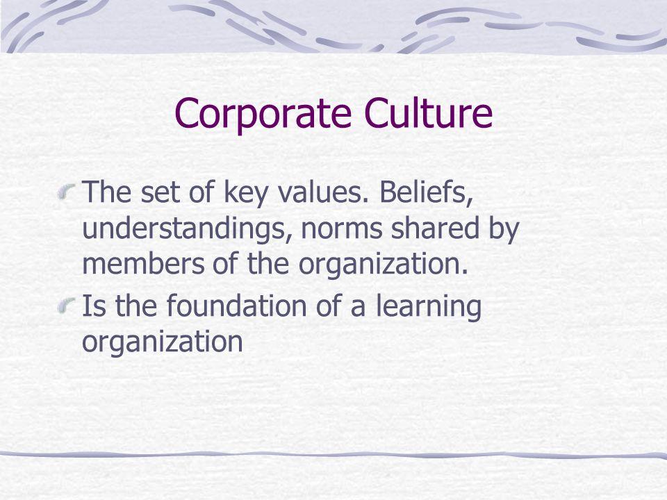 organizational culture is set of beliefs values and norms What is organizational culture organizational culture is a set of  in case of organizational  it creates values and beliefs that go beyond the.