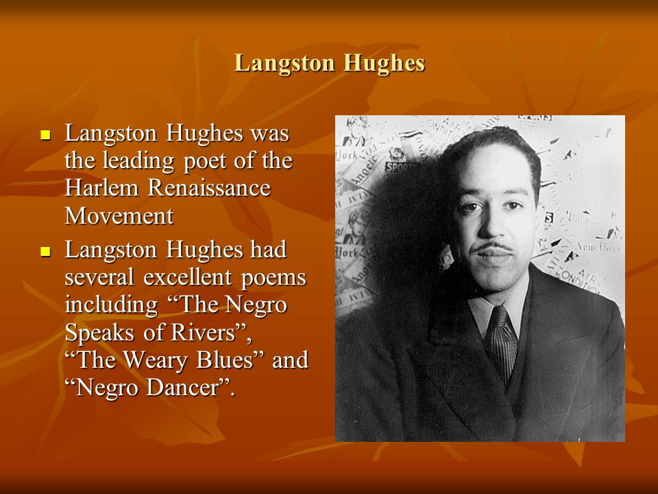 langston hughes impact era Langston hughes was a popular poet from the harlem renaissance his jazz age poems, including 'harlem' and 'i, too, sing america,' discussed the.