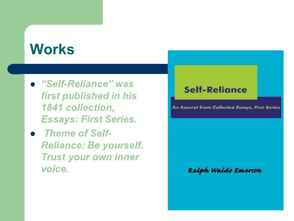 nature and self reliance essay