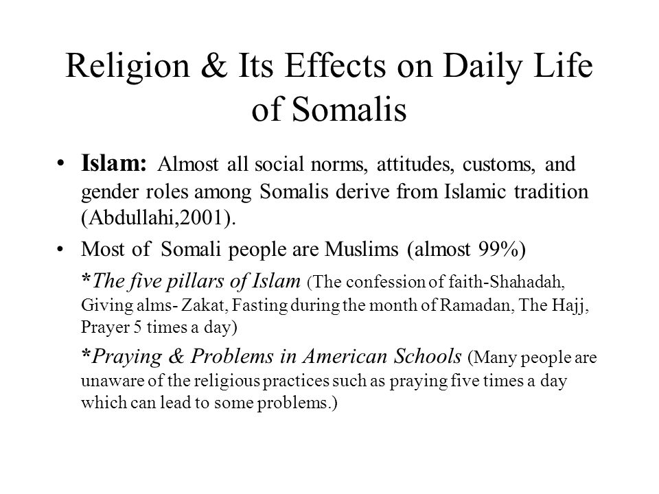 Religion its effects on daily life of somalis ppt video online religion its effects on daily life of somalis m4hsunfo
