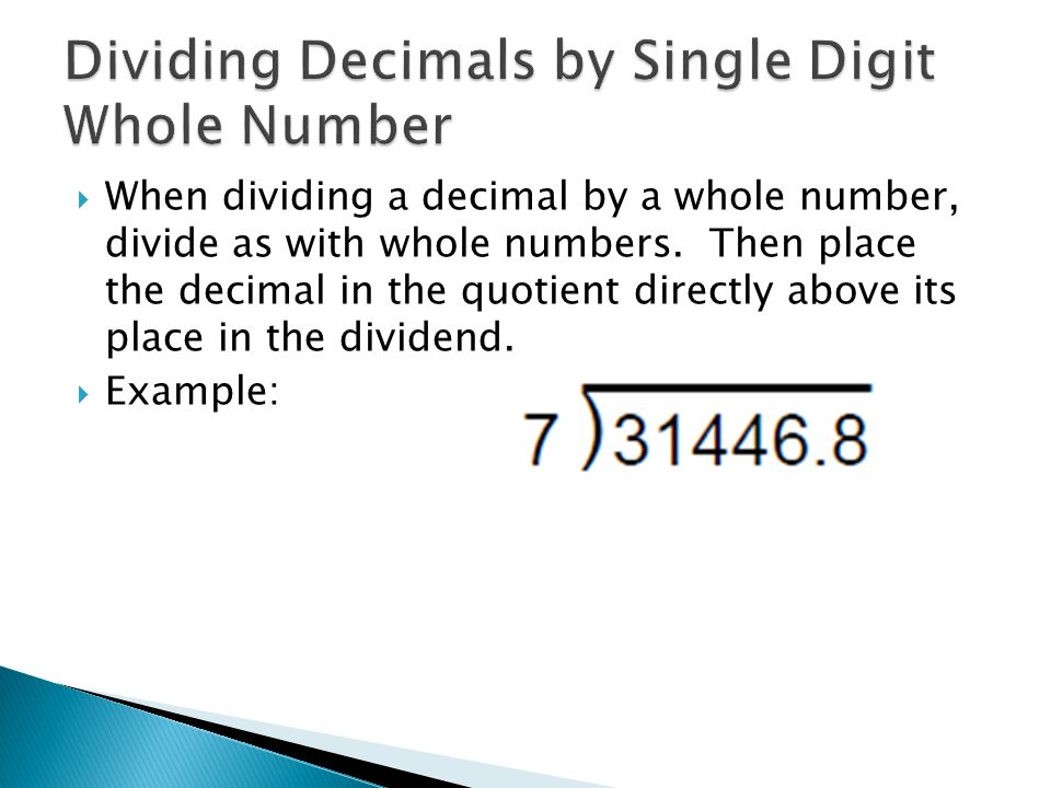 Dividing Decimals By Whole Numbers Ppt Video Online Download