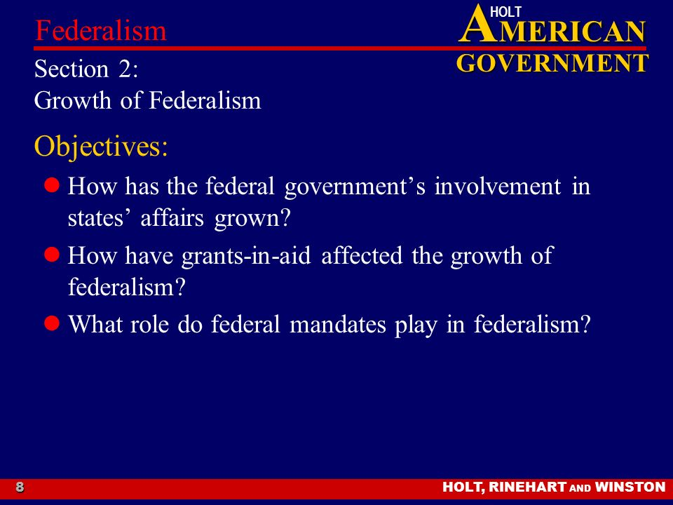 what role has the federal government Get an answer for 'how did the role of the federal government change during the great depression' and find homework help for other great depression and new deal questions at enotes.
