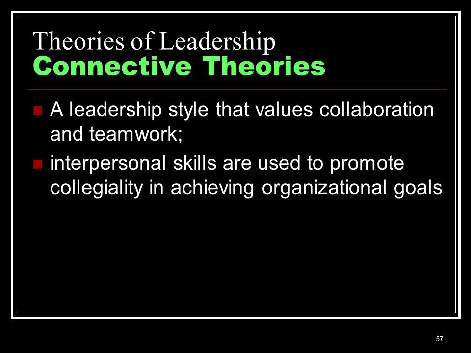 theories and principles of teamwork and leadership Leadership theories and principles i introduction leadership is a process by which a person influences others to accomplish.