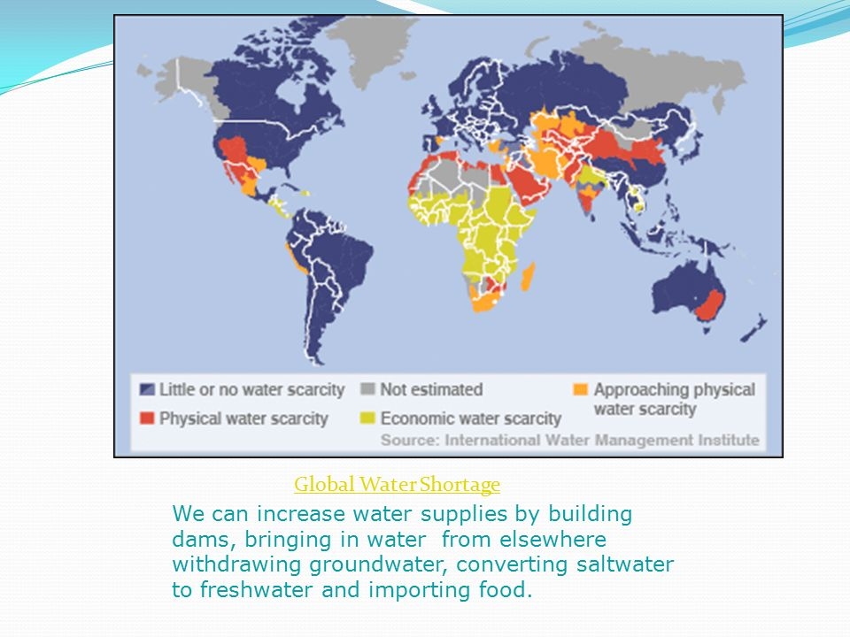 Strategies to improve water scarcity