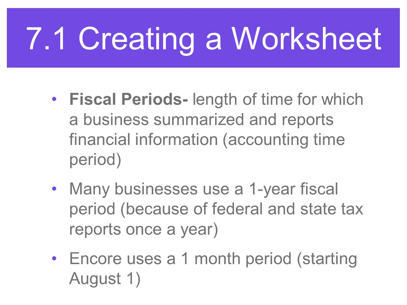 accounting the period of time At the end of the accounting period (which may be a month, quarter, or year depending on a business's practices), you calculate a trial balance worksheet unfortunately, many times your first calculation of the trial balance shows that the books aren't in balance.