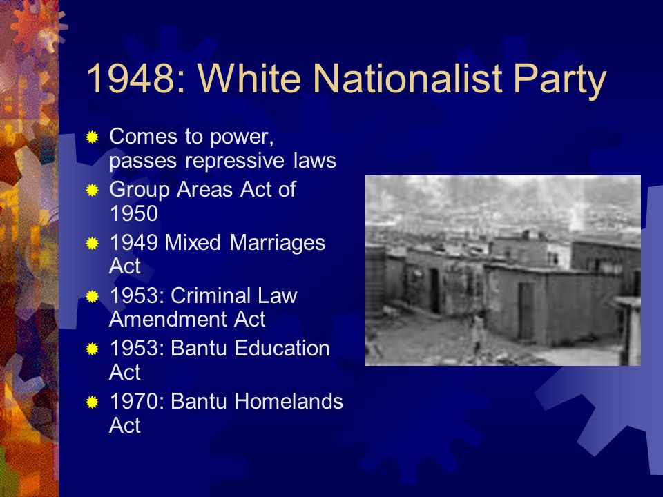 1948: White Nationalist Party