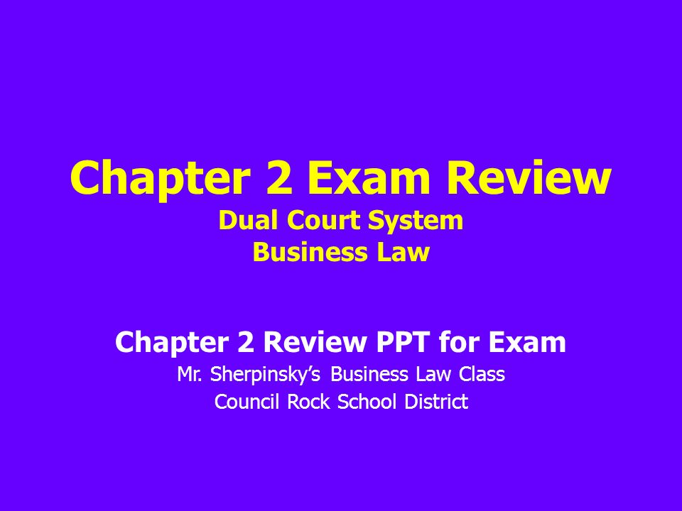 business law chapter 1 exam Page 1 of 19 gleim exam questions and explanations  part i - the legal system and the legal environment of business chapter 1 - introduction to law - su 1, su 4.