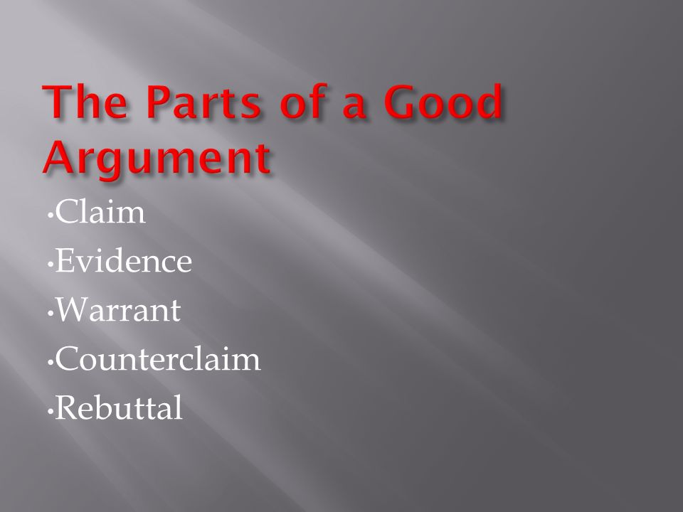 Claim evidence warrant essay Term paper Writing Service qbessayxpmc ...