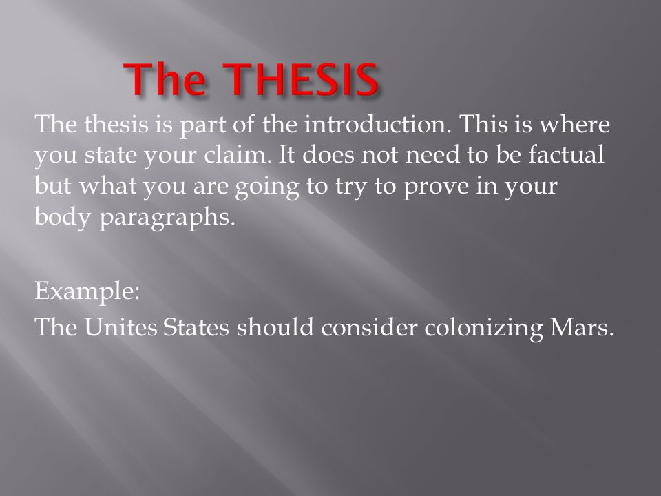 Thesis writing software an introduction ppt