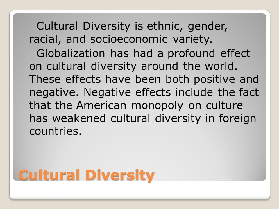 What is multicultural?