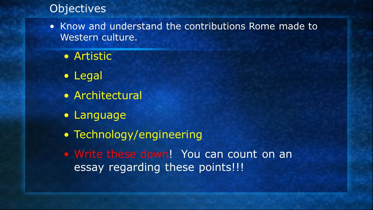 rome and the roots of western civilization ppt  2 technology engineering