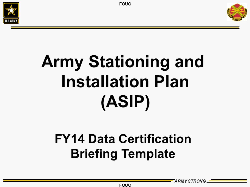 Army stationing and installation plan asip ppt video online army stationing and installation plan asip pronofoot35fo Images