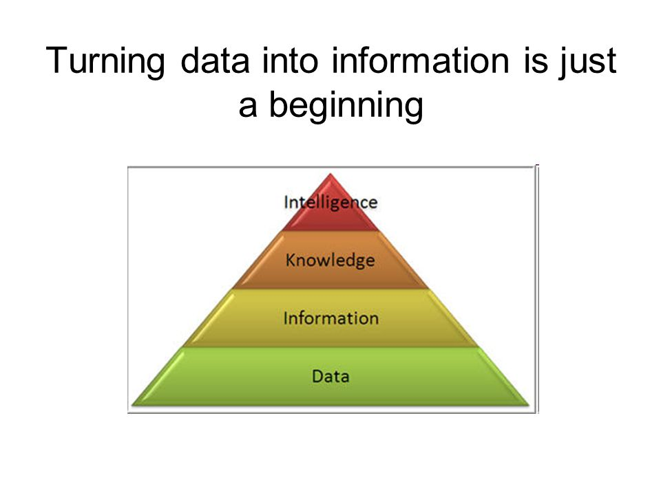 transforming data into information Transform published data into actionable insights  in order to contextualize this  information and leverage it toward new insights, researchers often turn either to.