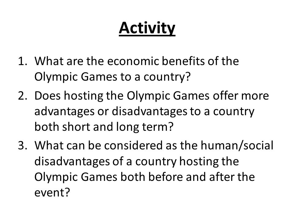 IELTS band 8 essay sample: Advantages and disadvantages of hosting international sporting events