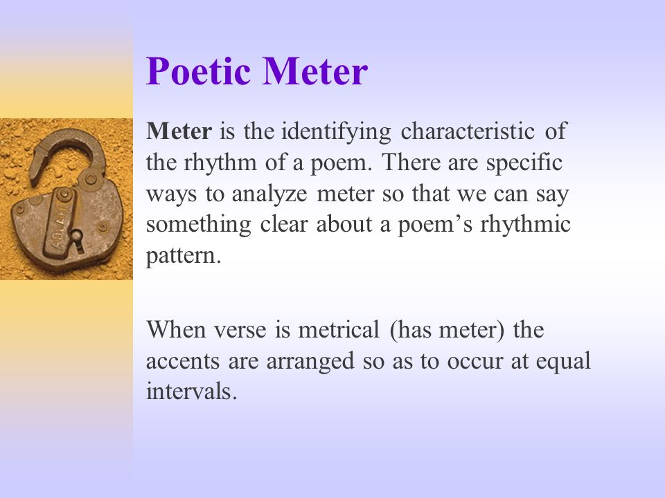 identifying rhythm and meter in an Rhythm occurs within the framework of meter, which is simply a repetitive pattern of strong and weak beats  identify and transcribe rhythms, you need to become .