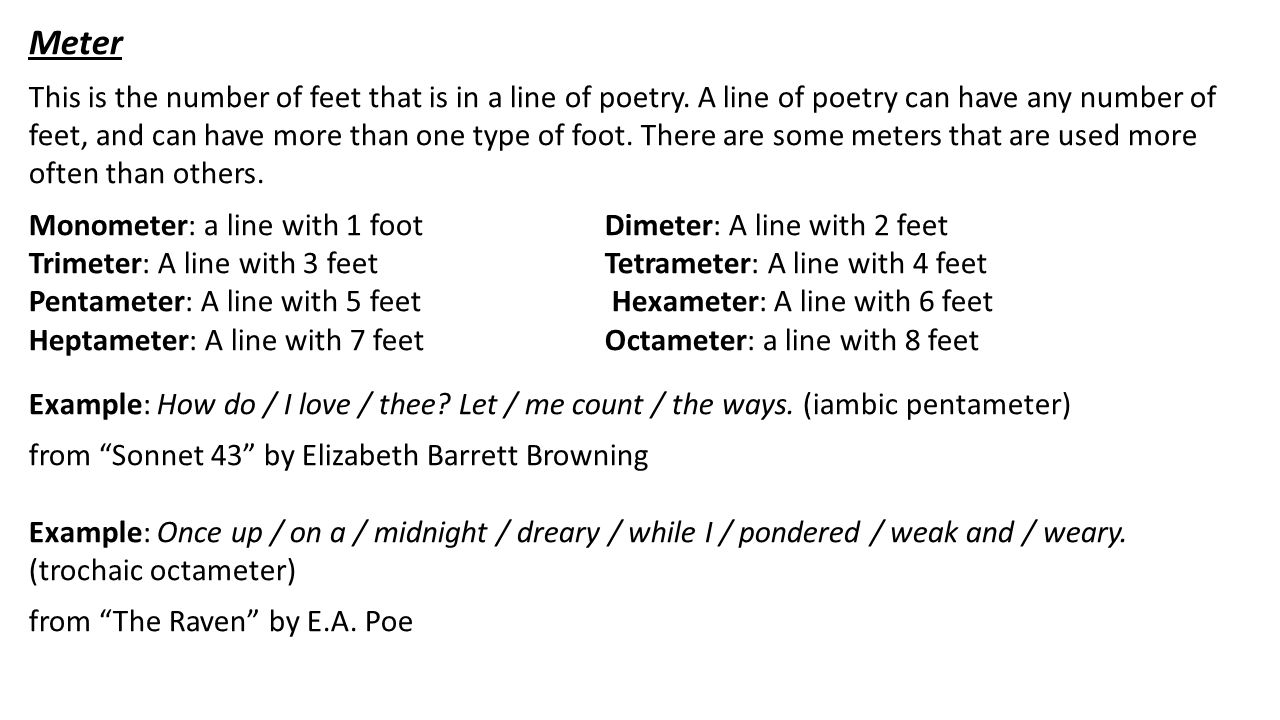Poetry S Structure And Form Ppt Video Online Download