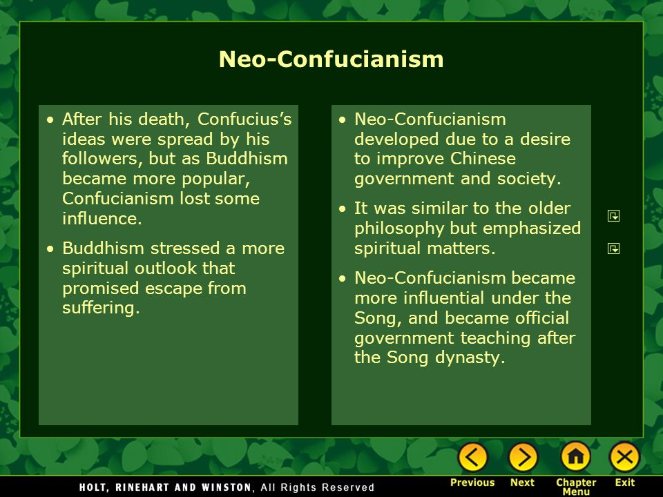 neo confucianism 2 essay Confucianism matrix essay - part 2 - china essay example he most important contribution is the establishment of a rational neo-confucianism.