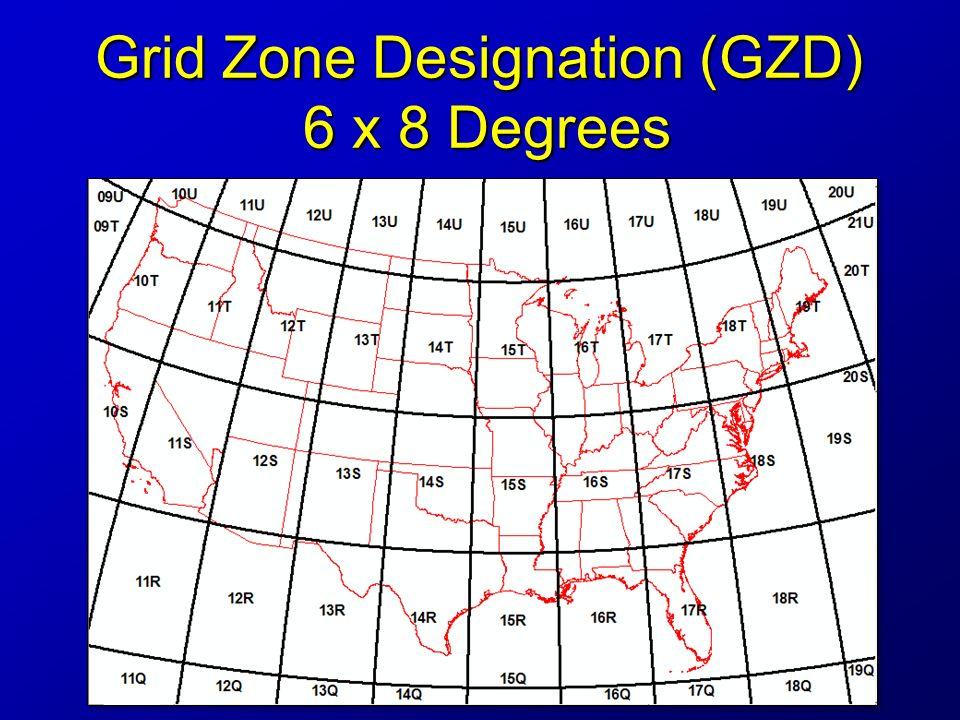 3 Grid Zone Designation Gzd 6 X 8 Degrees