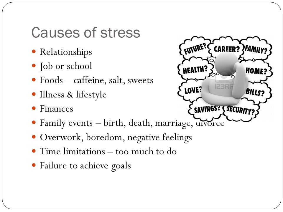 cause of stress Causes and management of stress at work s michie s tress has been defined in different ways over the yearsoriginally,it was conceived of as pres.