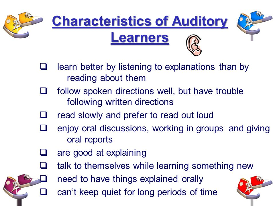 characteristics of young learners Youth learning characteristics below you will find a list of characteristics that are common to children presenting a major challenge to a young person's self.