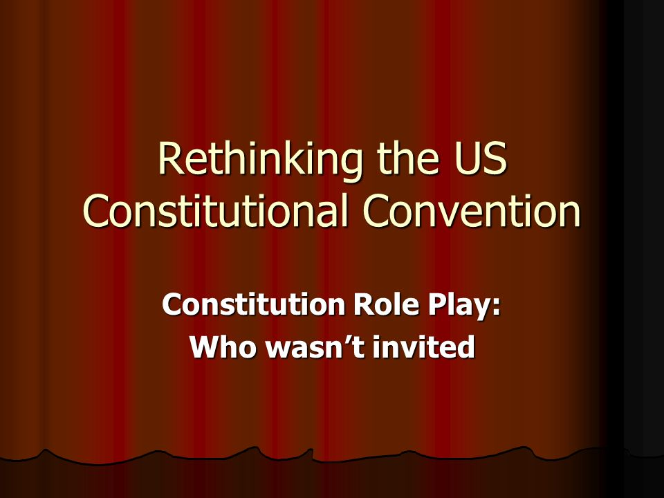 understanding the consitutional convention that leads to the united states constitution Constitutional convention and the united states constitution that emerged from the convention established a federal government with more.