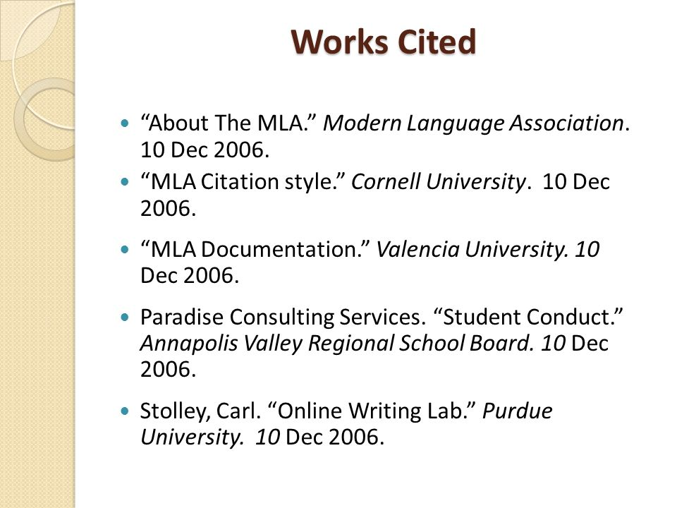 mla guidelines adapted from bakersfield college library
