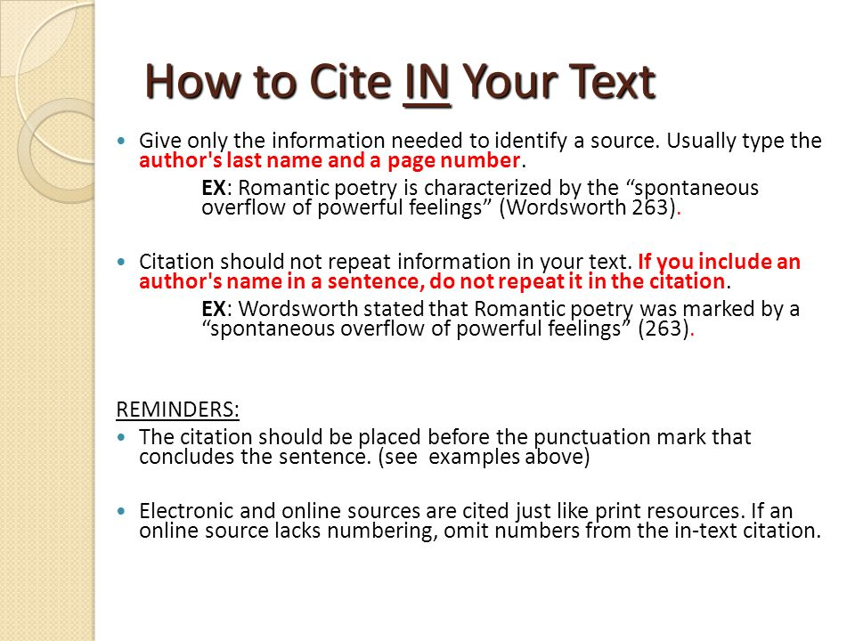 how to cite an online source