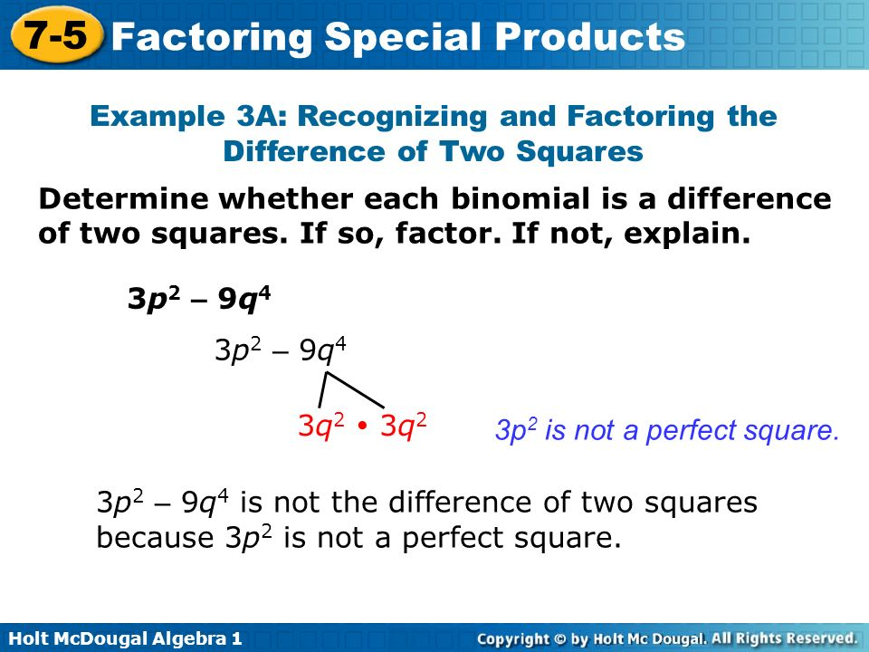Objectives Factor perfectsquare trinomials ppt video online – Factoring Special Products Worksheet