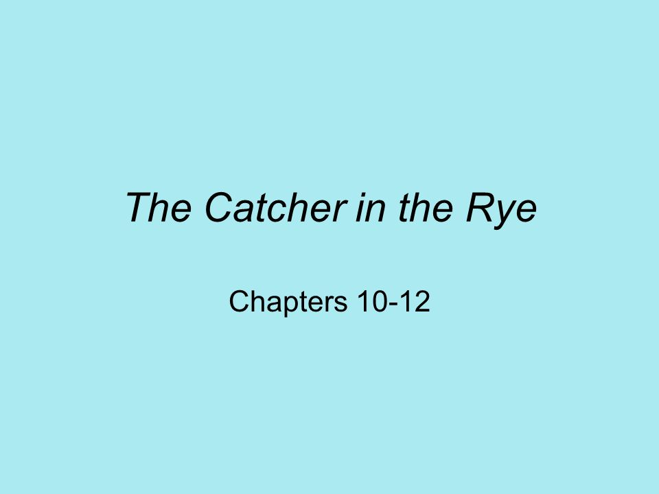 catcher in the rye log chapters The catcher in the rye chapter 18 audiobook - duration: 10:26 janis shropshire 1 view 10:26 the catcher in the rye finale chapters 25 and 26 audiobook.