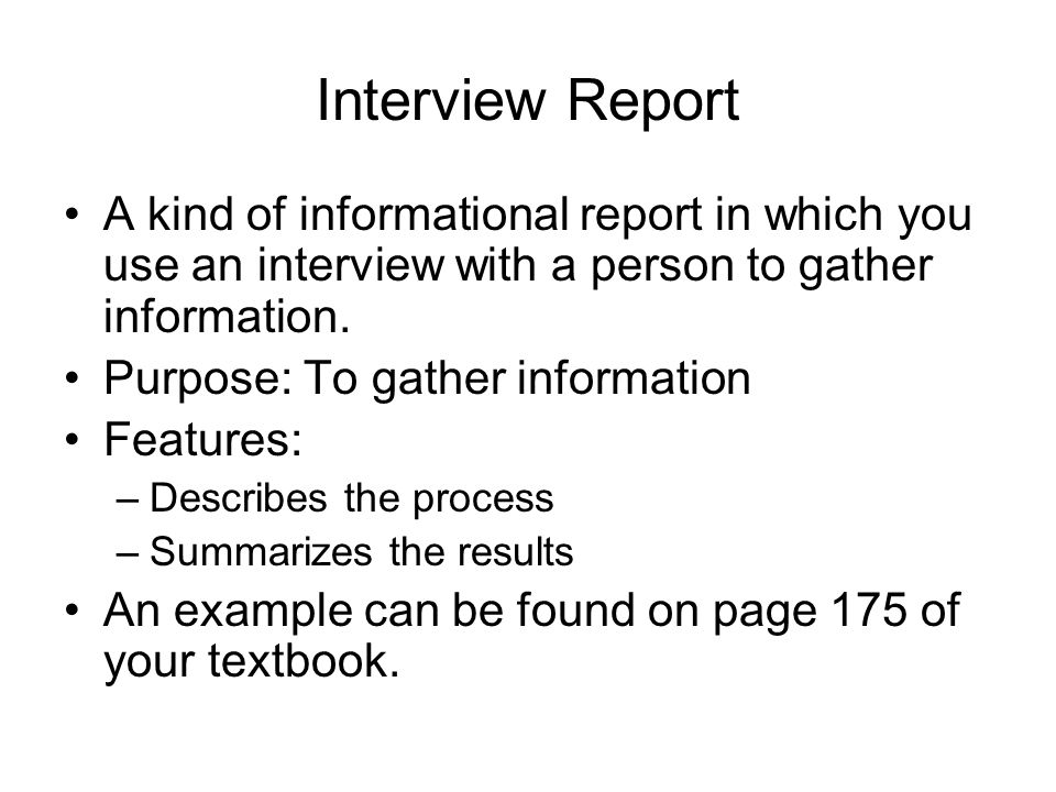 How to Write a Report on an Interview