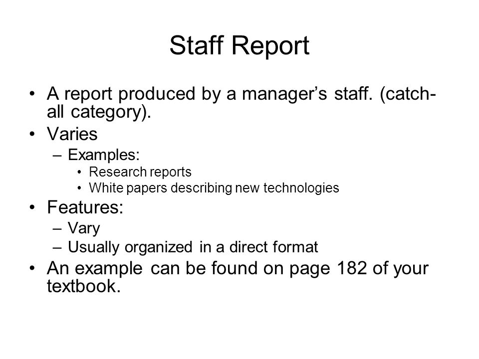 Writing Nonroutine Reports  Ppt Video Online Download
