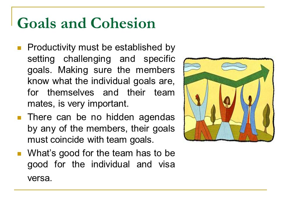 Goals and Cohesion