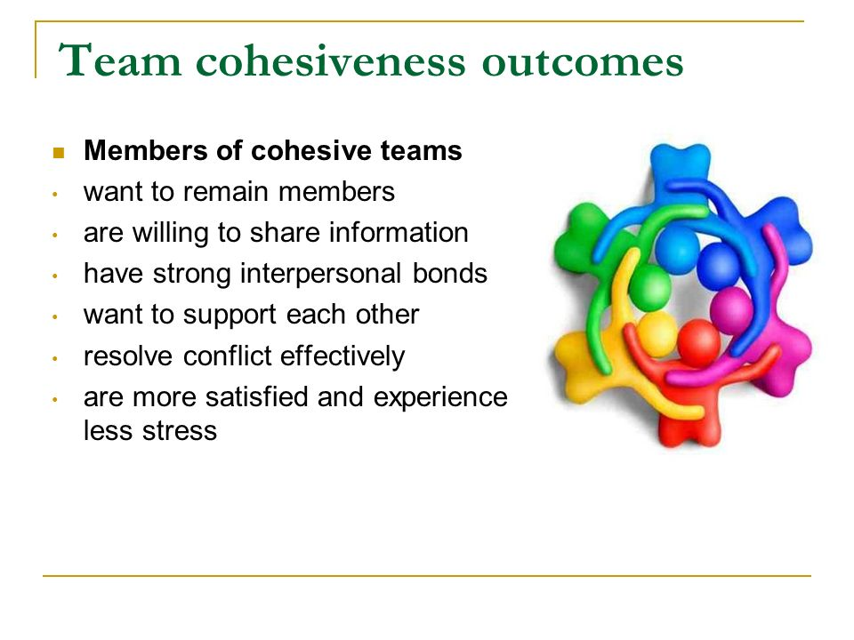 Team cohesiveness outcomes