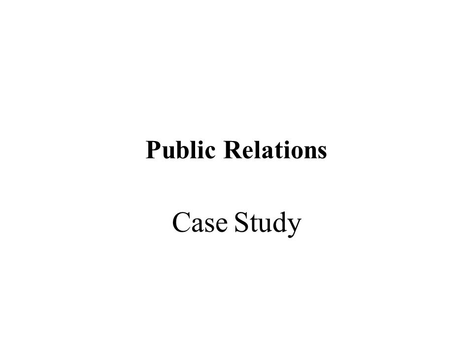 pr case study Top 1oo case studies in pr published by pr news press volume 4 wwwprnewsonlinecom.