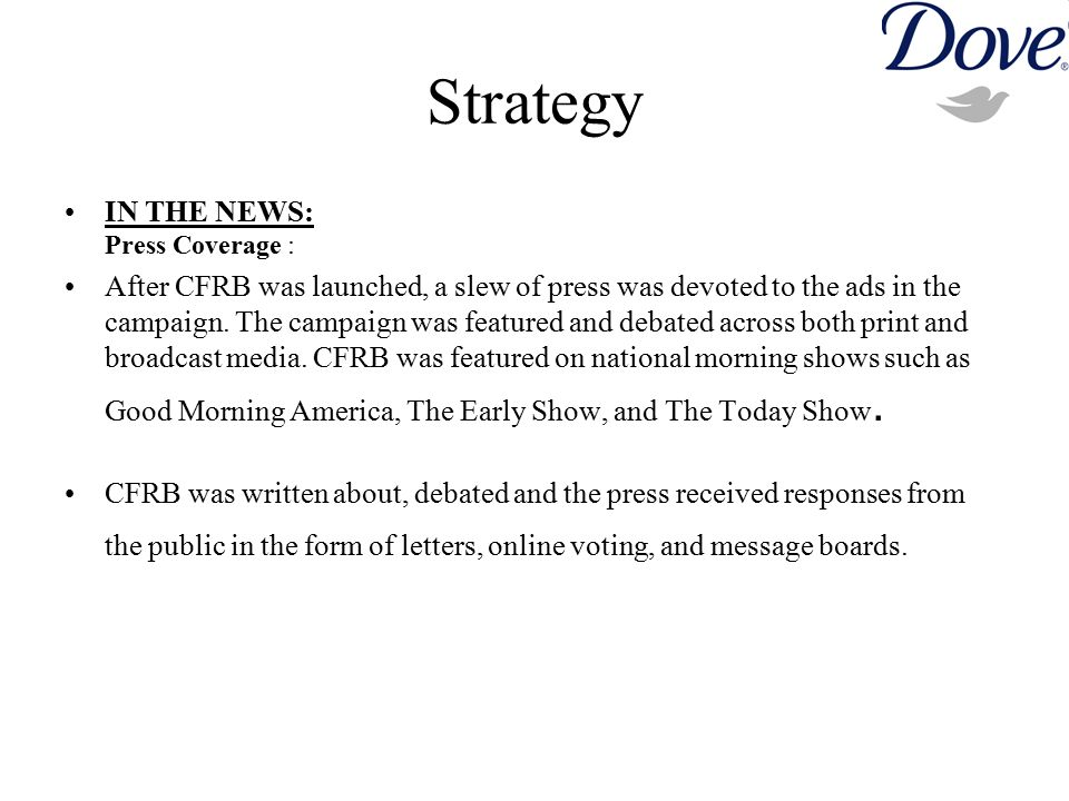 Strategy IN THE NEWS: Press Coverage :