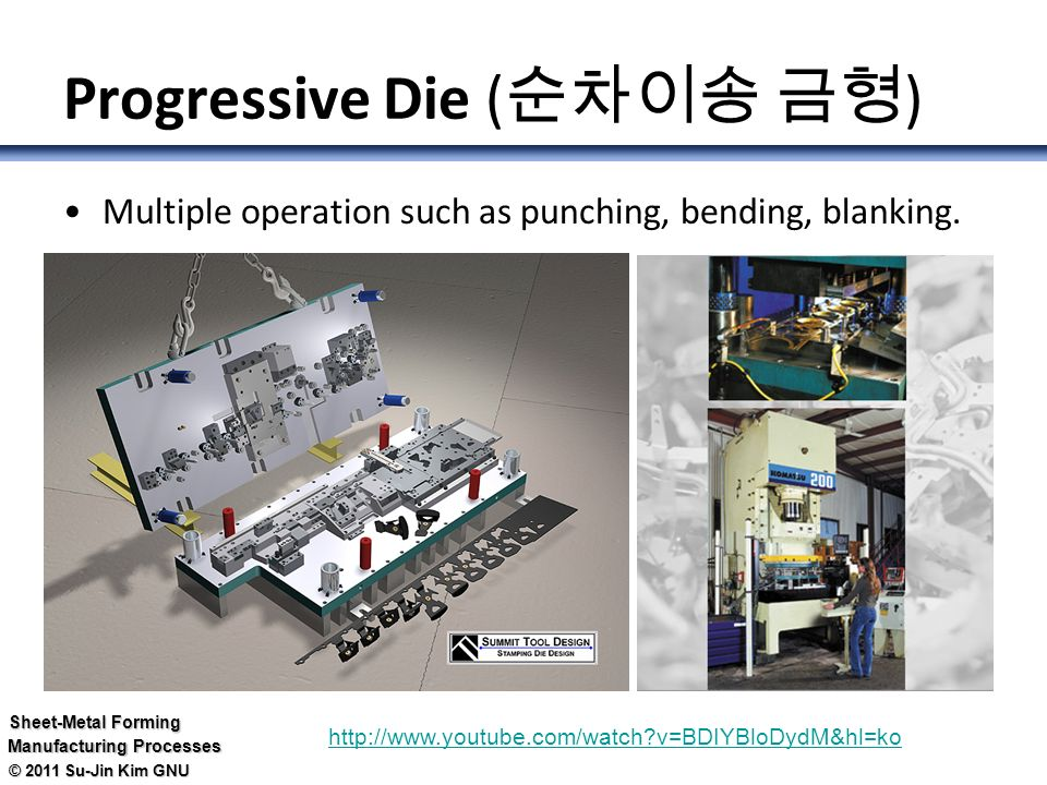 Die 금형 For Sheet Metal Ppt Video Online Download