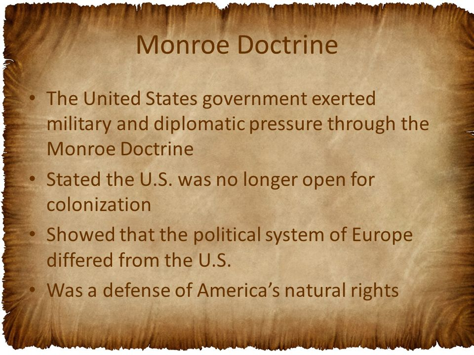 thesis statement for the monroe doctrine James monroe questions including what was the monroe doctine and how president of the united states from 1817 to 1825 and is well known for the monroe doctrine.