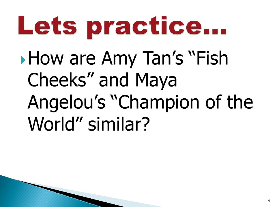 an analysis of the disaster in amy tanas essay fish cheeks