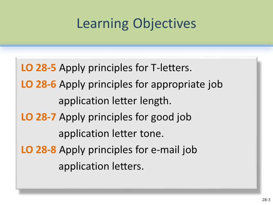 Job application letters ppt video online download 3 learning objectives thecheapjerseys Choice Image