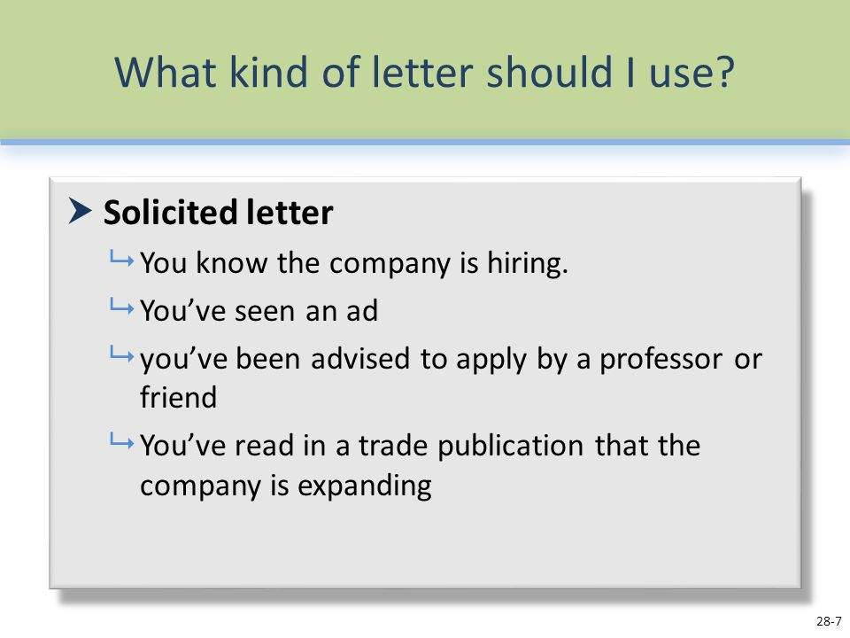 Job Application Letters ppt video online download