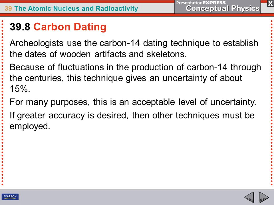 uncertainty with carbon-14 dating