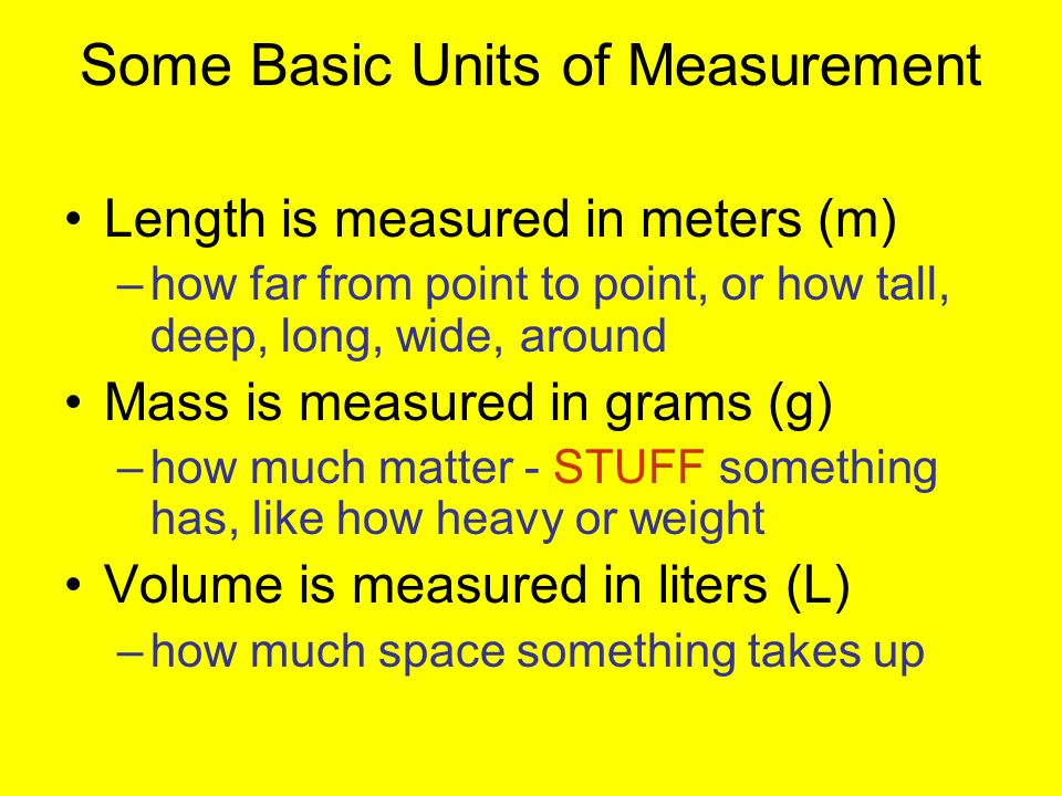 Some Basic Units of Measurement