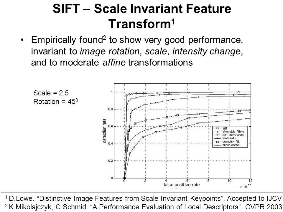 scale invariant feature transform and sift La scale-invariant feature transform (sift), que l'on peut traduire par « transformation de caractéristiques visuelles invariante à l'échelle », est un.
